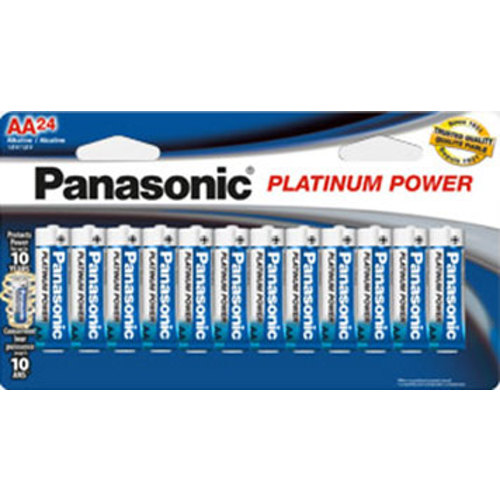 Panasonic-Platinum Power AA - Paquet de 24 #LR6XP/24B-Piles