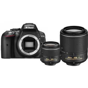 D5300 Digital SLR Camera with 18-55mm VR II and 55-200mm VR II Lenses