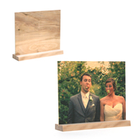 3.5 x 5 Vertical Wooden Wood Base