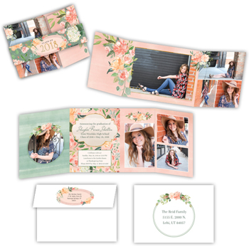 Blissfully Chic<br>5x7<br>Offset Gate Fold