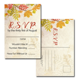 Autumn 4x6 RSVP Postcard