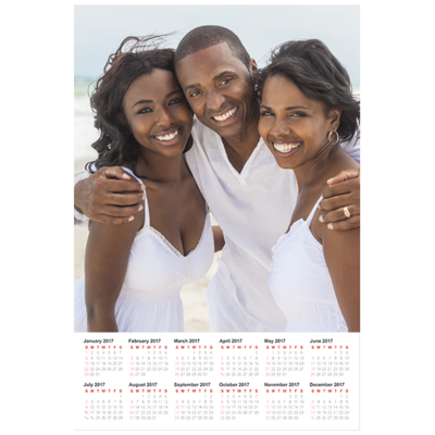 12 x 18 Poster Calendar with 1 image