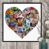 20 x 20 Heart Collage (65 photos)