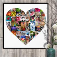 20 x 20 Heart Collage (65 photos)