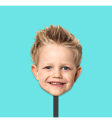 """Giant Face Cutout  - Small 11"""" x 17"""""""