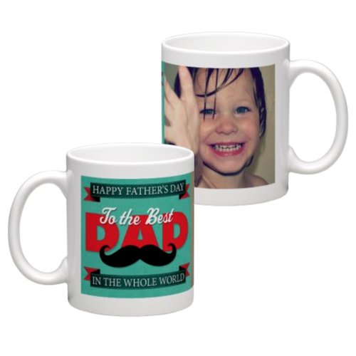 White Coffee Mug 11oz (wrap) Dad-G