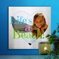 12 x 12 Heart Collage Metal Print Freestyle