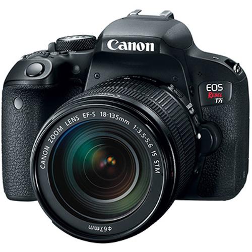 Canon-EOS Rebel T7i Digital SLR Camera with EF-S 18-135mm f3.5-5.6 IS STM Lens-Digital Cameras