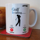 """..... Is Calling"" - White Mug - Add your own text"
