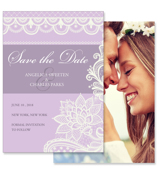 Lace A - 2 Sided Save the Date