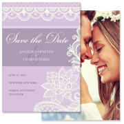 Lace A - 2 Sided Save the Date  5x7