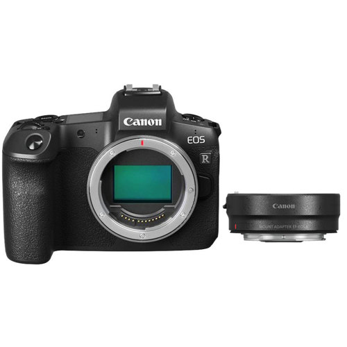 Canon-EOS R Mirrorless Camera - Body Only with Mount Adapter EF-EOS R-Digital Cameras