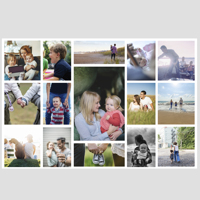 "20x30"" collage with 15 photos - horizontal - Other sizes available"