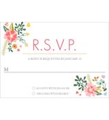 Floral - 1 Sided RSVP