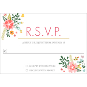 Floral - 1 Sided RSVP  3.5x5