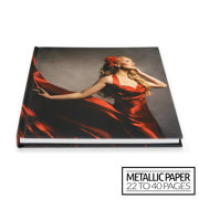 12x12 Layflat Hardcover Photo Book / Metallic Paper (22-40 Pages)