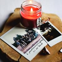 Photos carrées style polaroid et bandeau de photos style photoboot