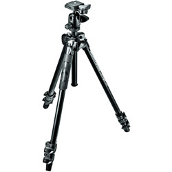 Manfrotto-290 XTRA Kit, 3 Section Aluminum Tripod with Ball Head #MK290XTA3-BH-Tripods & Monopods
