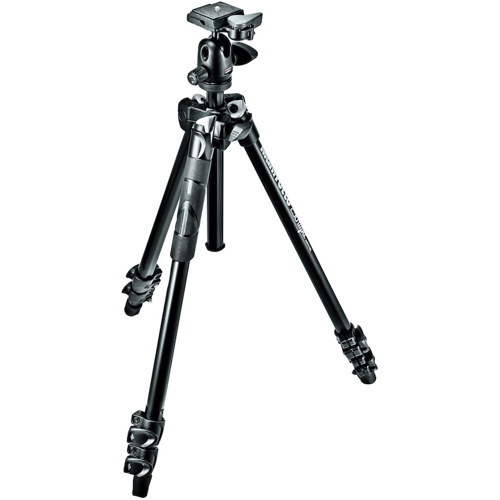 Manfrotto-Kit 290 XTRA, Trépied en Aluminium à 3 Section avec Rotule #MK290XTA3-BH-Trépieds & Monopieds
