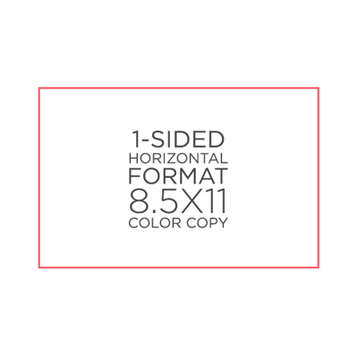 "8.5"" x 11"" Color Copies"