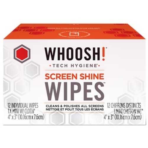Whoosh!-Screen Shine Wipes - 12 Pack-Smartphone and Tablet Accessories