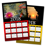 Poster Calendar with Custom Color Background (11x17)