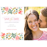 Floral - Save the Date 7x5