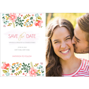 Floral - 1 Sided Save the Date 5x7