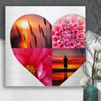 20 x 20 Heart Collage Metal Print (4 photo)