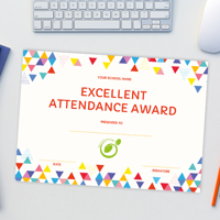 A4 'Excellent Attendance' Certificate 100 Pack