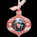 Sculpted Teardrop Ornament
