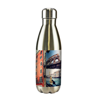 Silver Insulated Tapered Water Bottle