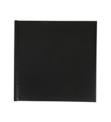 12x12 Layflat Leather Book (Black )