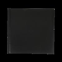 12x12 Layflat Leather Book (Black )