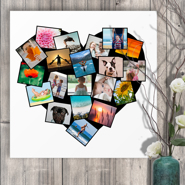 20 x 20 Heart Collage Acrylic Print - 20 photos