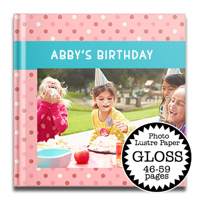 12 x 12 Gloss Hard Cover photo book / Photo Lustre Paper (45-59 Pages)