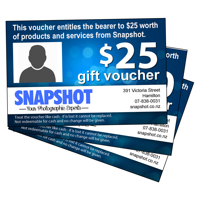 Personalised Gift Vouchers - pickup only pre-Xmas. Too late for courier.