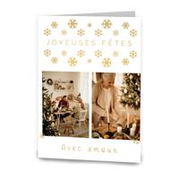 Carte de souhaits 5x7 pliante // Joyeuses fêtes, avec amour