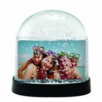 Horizontal Clear Photo Snow Globe