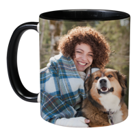 11oz Black Handle & Inner Photo Mug - 2 images