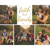 Gold Foil Embellished Block Mount 10x8 Faith and Family