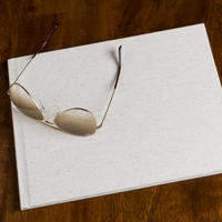 8.5 x 11 (Unibind) Natural Linen w bleed