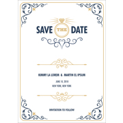 Modern - 1 Sided Save the Date  5x7