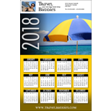 Poster Calendar with Color Background Options (11x17)