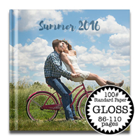 12 x 12 Gloss Hard Cover photo book / Standard 100# (86-110 Pages)