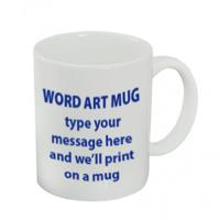 DIY WORD ART MUG