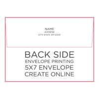 50pk - 5x7 Envelope w/ Printing on Back Side