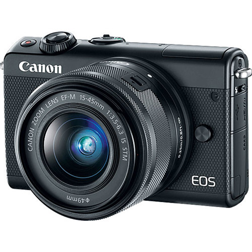 Canon-EOS M100 Interchangeable Lens Camera with EF-M 15-45mm f3.5-6.3 IS STM Lens-Digital Cameras