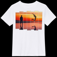 T-Shirt blanc avec 1 photo en 7 tranches