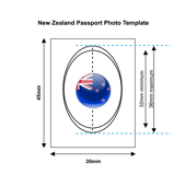 New Zealand Passport Photo Template